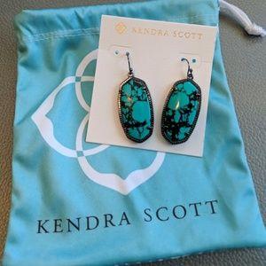 Kendra Scott Elle Turquoise & Gunmetal Earrings